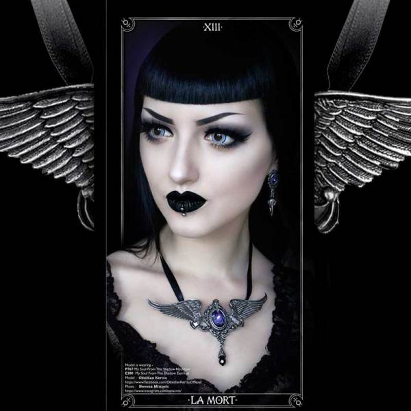 Vampfangs P767 LaMort Necklace Poe