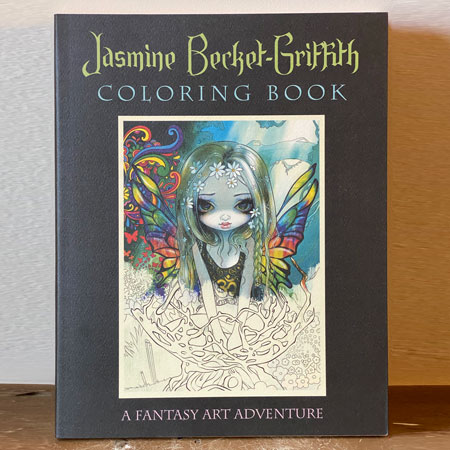 fantasy art coloring book