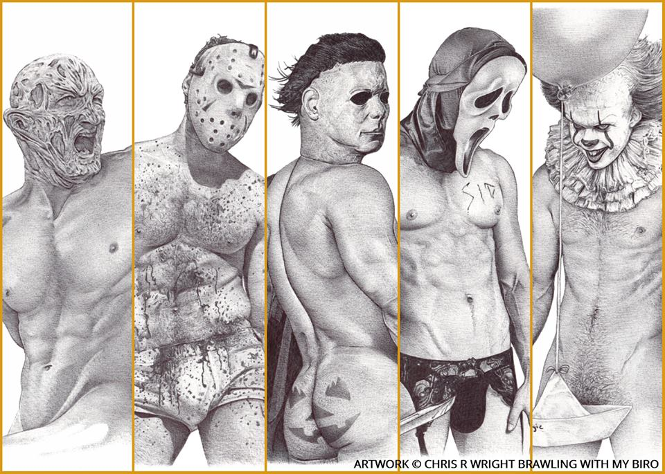 Artist Chris R. Wright on Giving Iconic Horror Villains a Sexy Twist