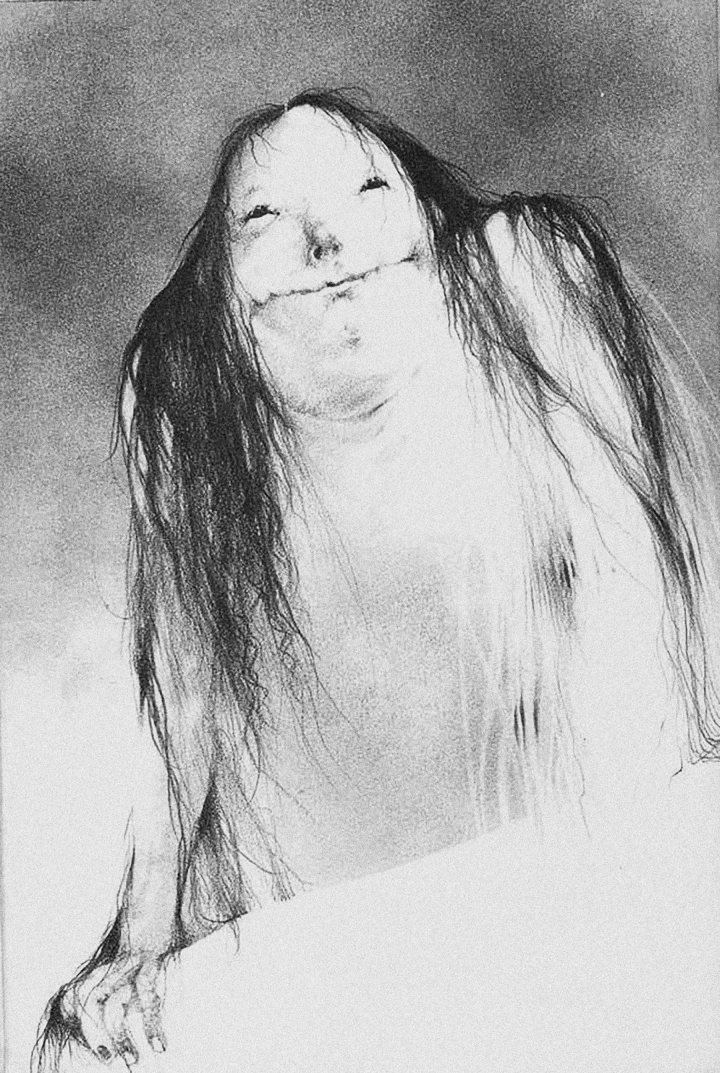 SCARY STORIES TO TELL IN THE DARK Pale Lady original illustration