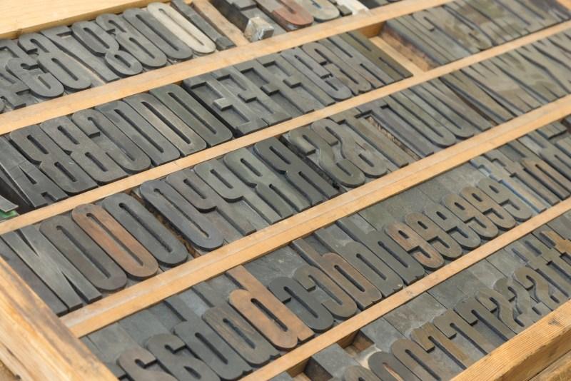 Oude letterbak
