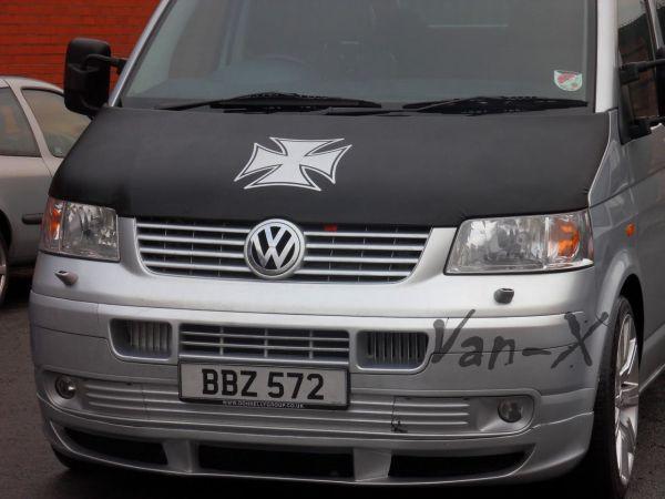 Iron Cross Bonnet Bra / Cover for VW Transporter T5-1000