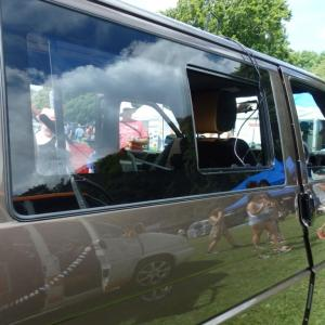 Side Window Sliding Glass for VW T4 Transporter Smoked-0