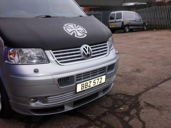 Bonnet Bra / Cover Silver French Cross for VW Transporter T5-1341
