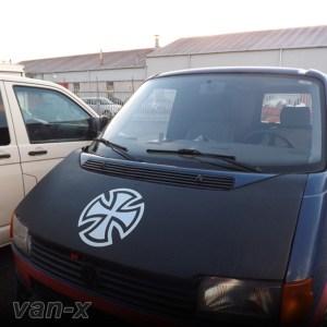Bonnet Bra / Cover Silver French Cross for VW Transporter T4 S.NOSE-0