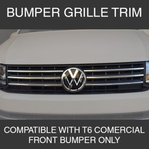 Front Grille Trim for VW T6 Transporter Stainless Steel-0