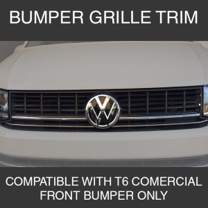 Front Lower Grille Trims for VW T6 Transporter Stainless Steel-0