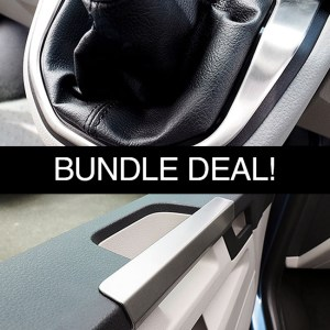 Gear Surround & Grab Handles for VW T6 Transporter Bundle Stainless Steel -0