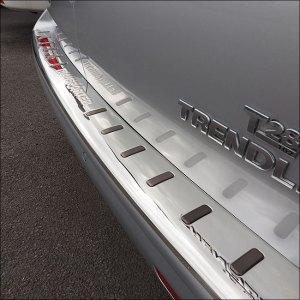 Rear Bumper Protector VW T6 Stainless Barndoor (TITANIUM BLACK INSERT)-0