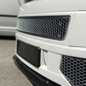 HONEYCOMB SPORTLINE FRONT SPOILER FOGLIGHT TRIMS FOR VW T5.1 (MATTE CHROME)-8969