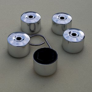 Silver Protective Wheel Nut / Bolt Covers 17mm (set of 20) (Ideal gift)-0