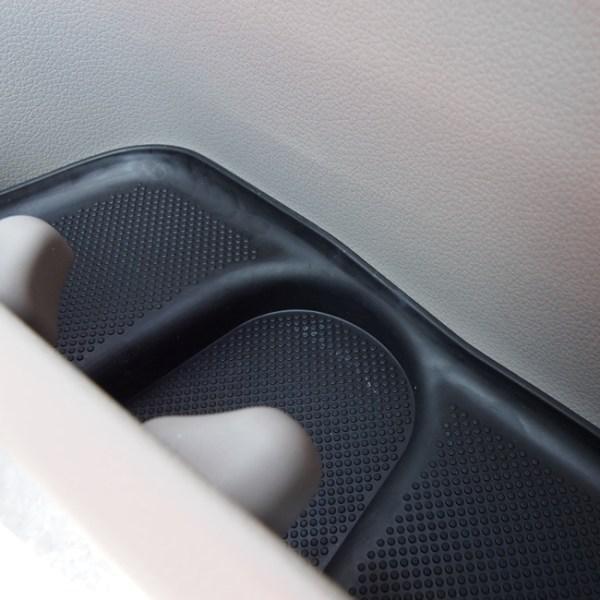 Rubber Door Pocket Inserts for VW T6 Transporter BLACK-20655