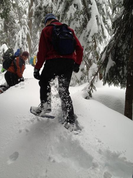 雪地行走,不大容易。