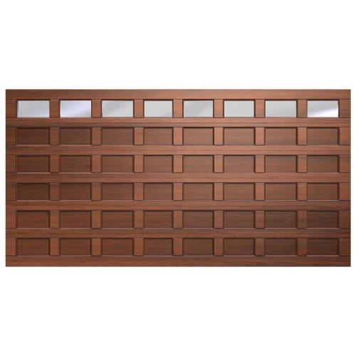 Van Acht Marine Ply Garage Door CRV Double 48 Panel Polycarbonate