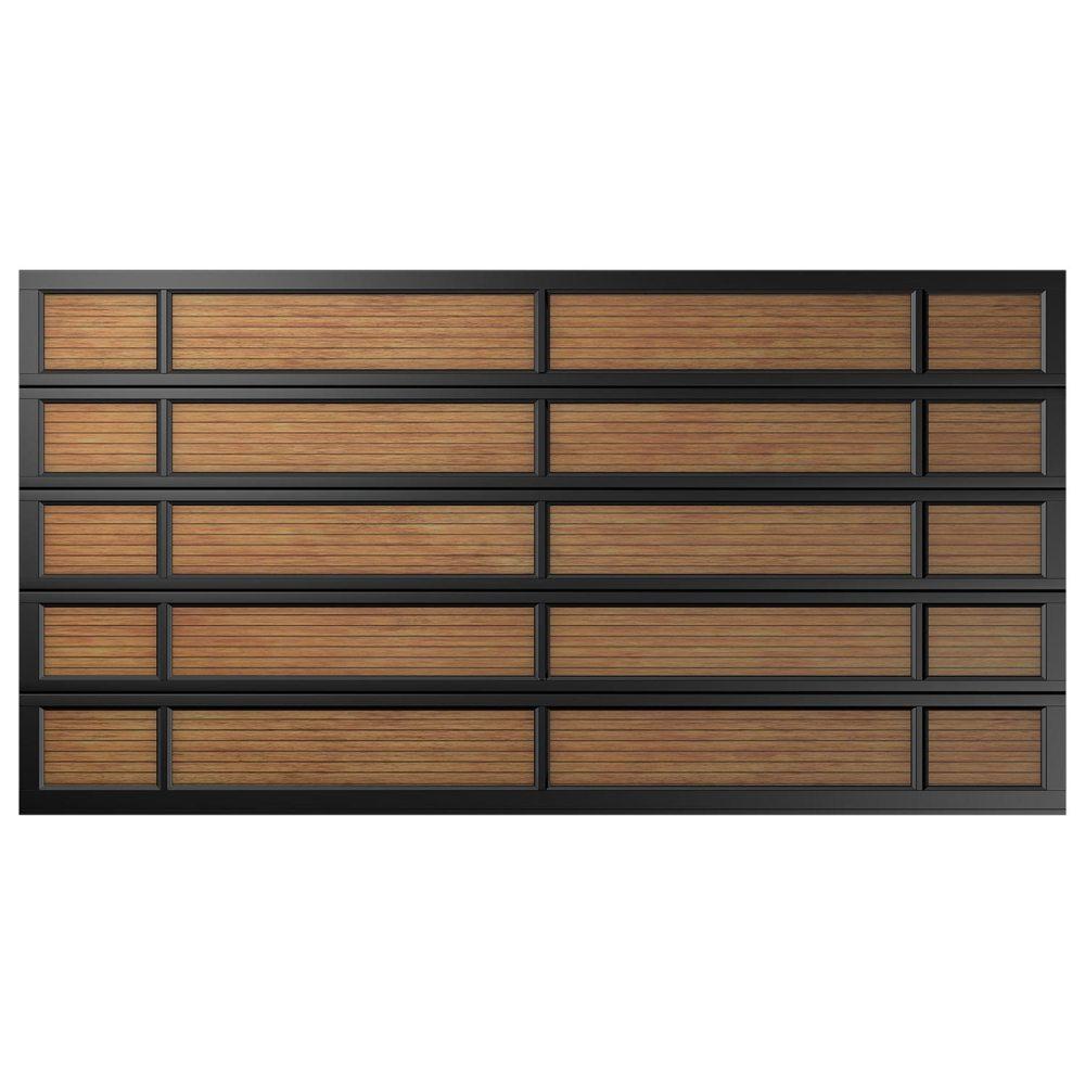 Van Acht Garage Door Double 20 Panel YOSO Type 1 Charcoal Caravan