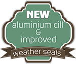 New aluminium cill and improved weather seals