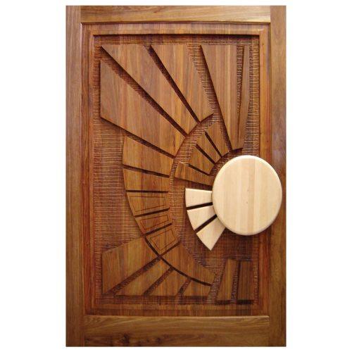 Van Acht Designer Carved Pivot Door Africa 5