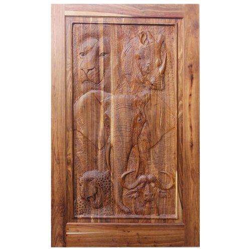 Van Acht Designer Carved Pivot Door Big Five