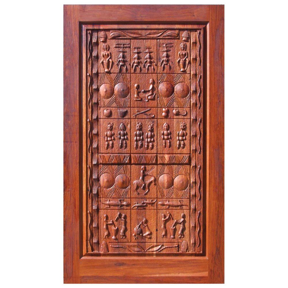 Van Acht Designer Carved Pivot Door Mali