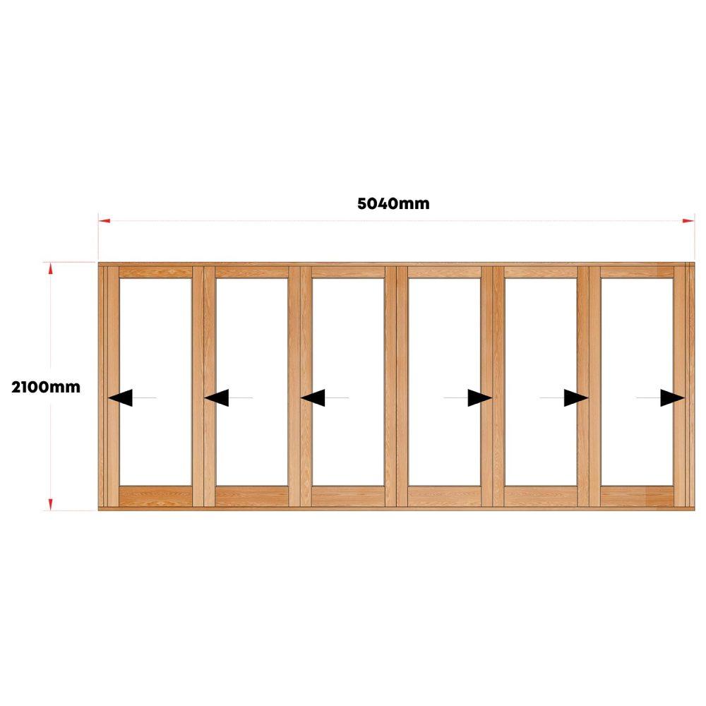 Van Acht Wood Doors Folding Full Pane VSD4.8CO