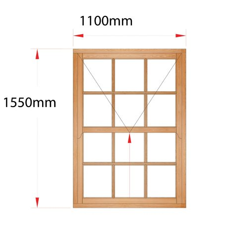 Van Acht Wood Easy Lift Sash Windows Product HMEL3SP
