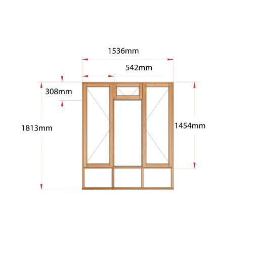 Van Acht Wood Fanlight Windows Full Pane Product MA3FS
