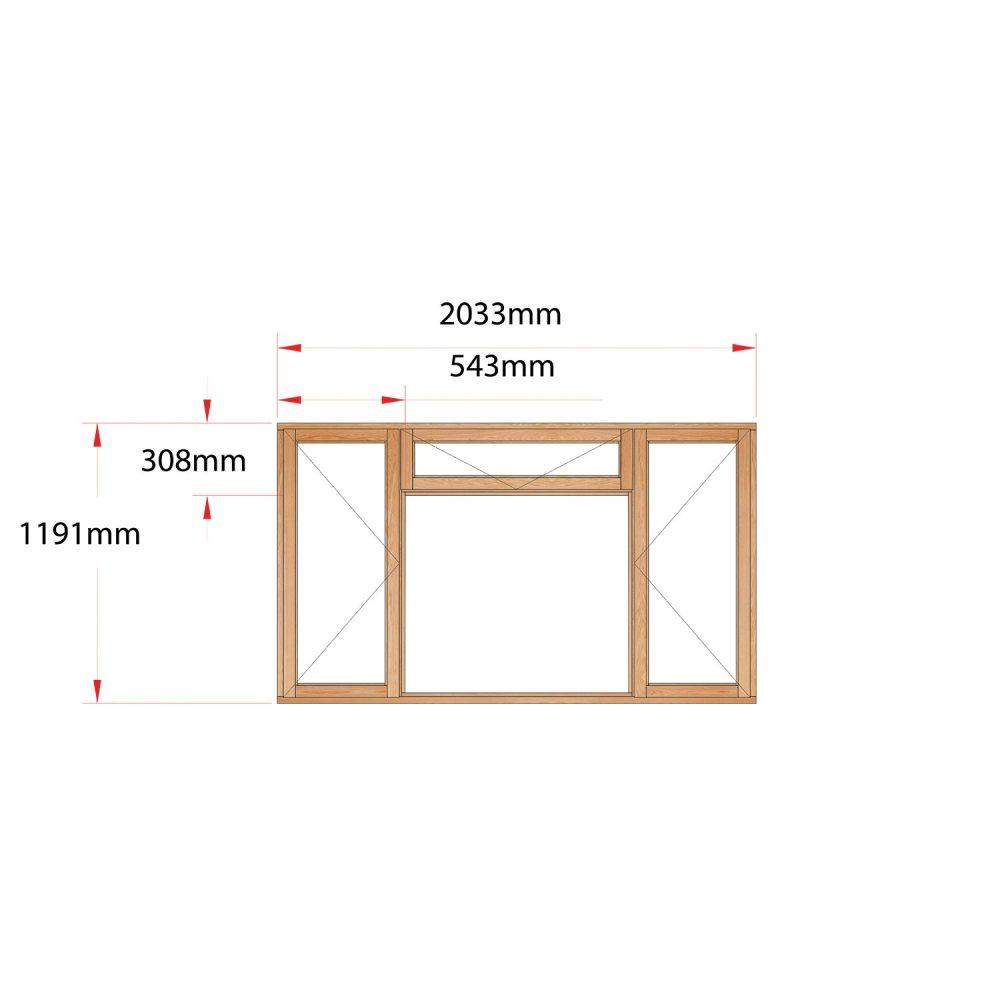Van Acht Wood Fanlight Windows Full Pane Product MB4F