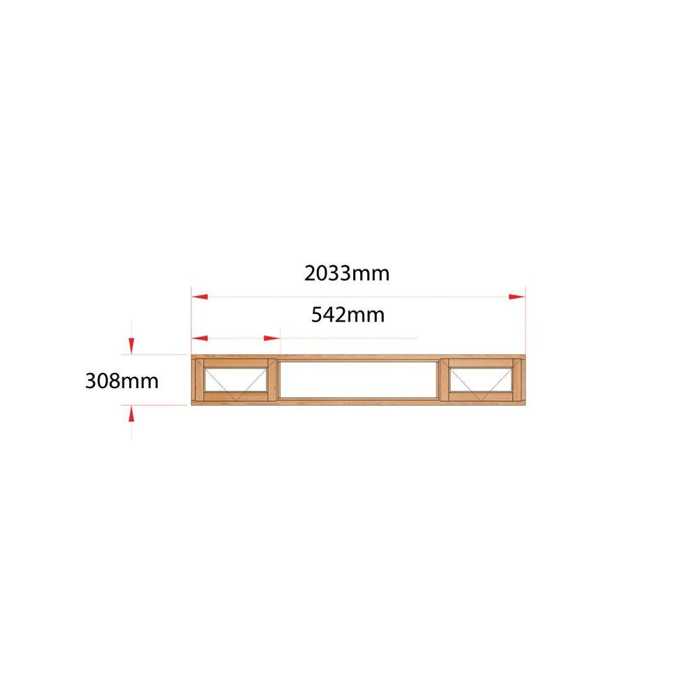 Van Acht Wood Fanlight Windows Full Pane Product ME4