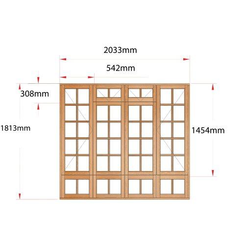 Van Acht Wood Fanlight Windows Small Pane Product MA4FSPS