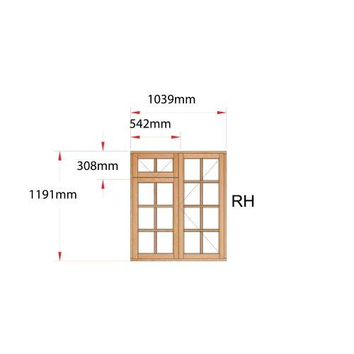 Van Acht Wood Fanlight Windows Small Pane Product MB2FSP RH