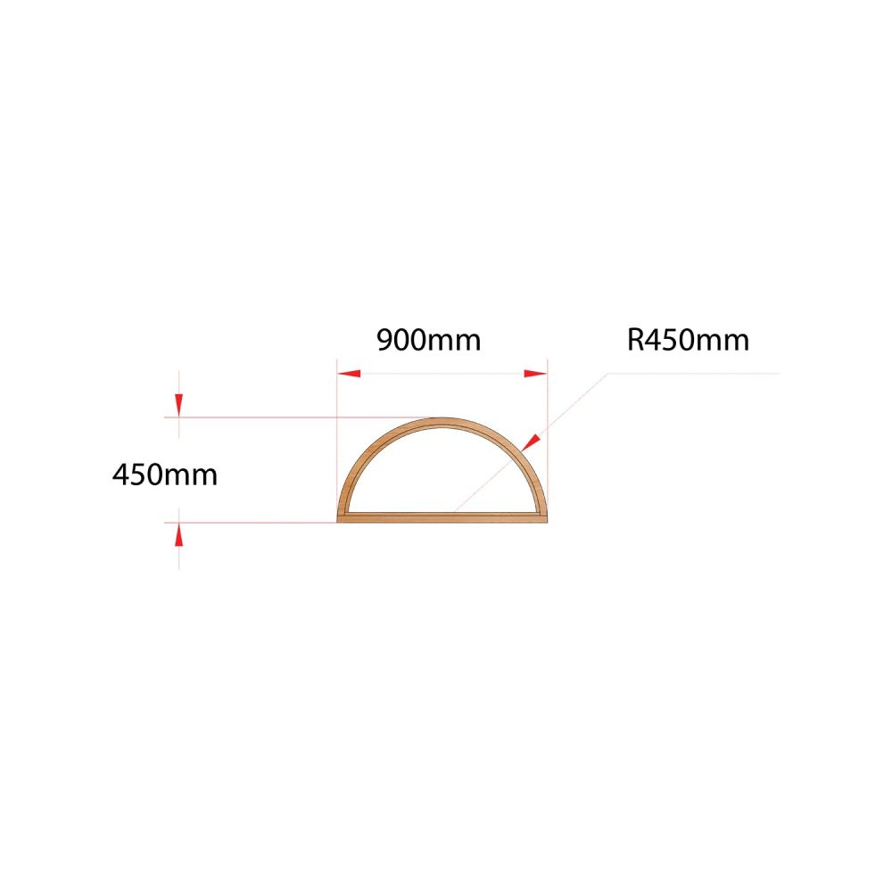Van Acht Wood Fixed Arches for Windows Product H900 ARCH