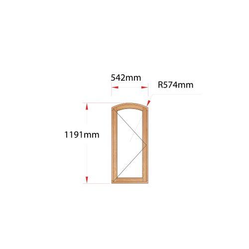 Van Acht Wood Flat Arch Windows Product AHB1