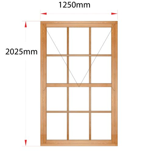 Van Acht Wood Mock Sash Windows Product HMS6SP