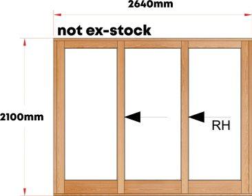 Van Acht Wood Sliding Doors Full Pane Model VSD2.6TS