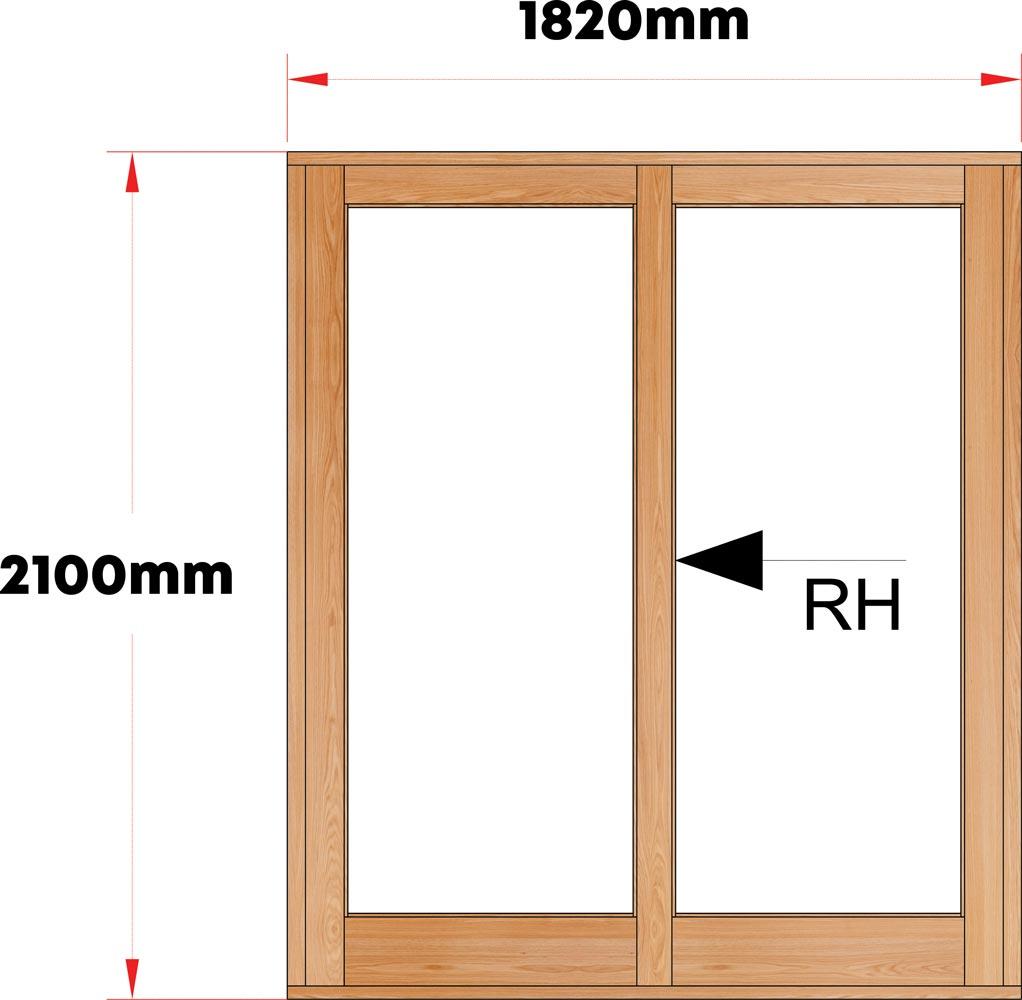 Van Acht Wood Sliding Doors Full Pane Model VSD1.8