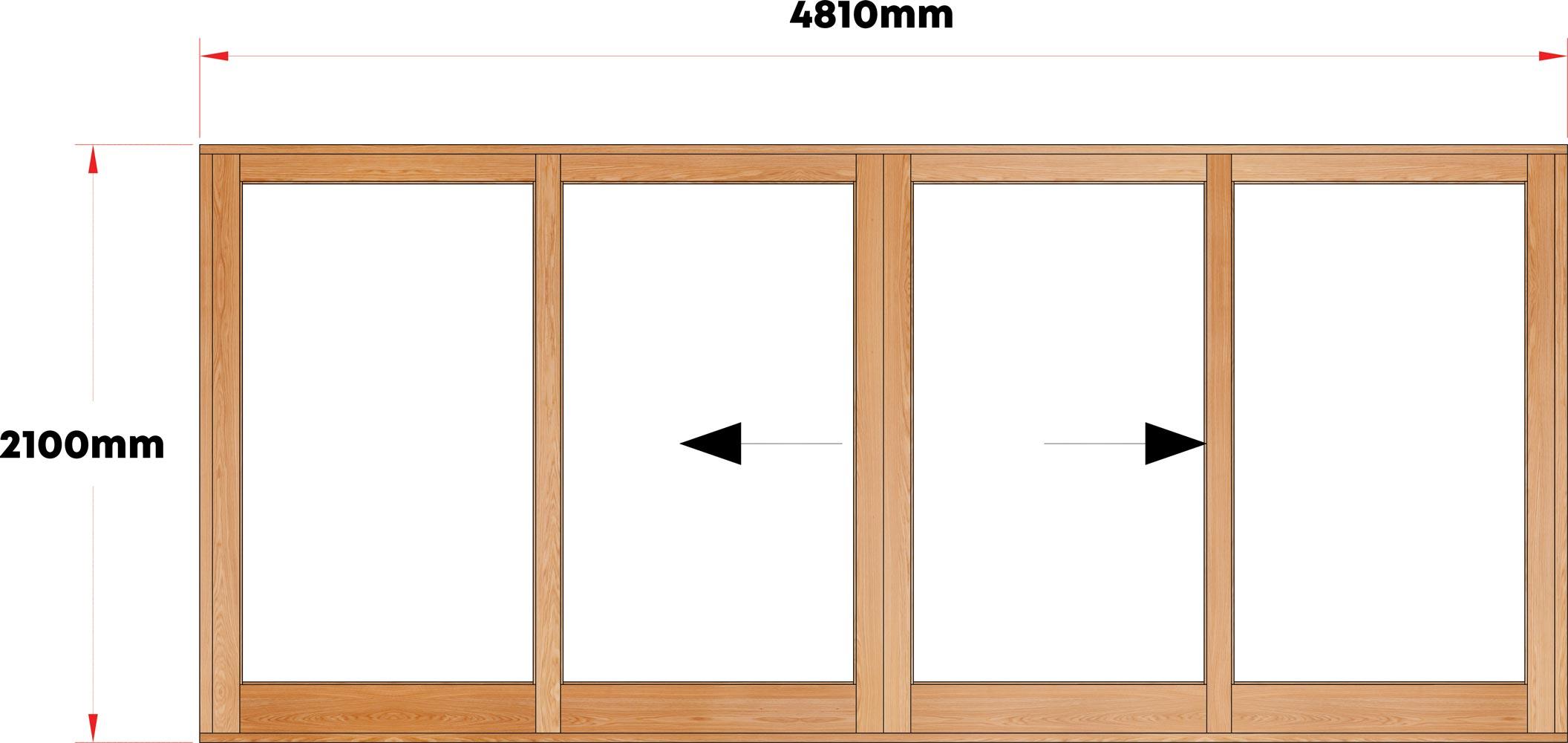 Van Acht Wood Sliding Doors Full Pane Model VSD4.8CO