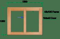 Van Acht Wood Sliding Windows Model VSW1512L