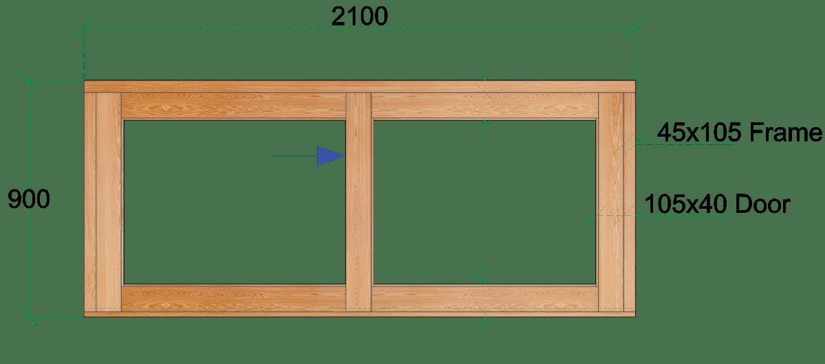 Van Acht Wood Sliding Windows Model VSW219L