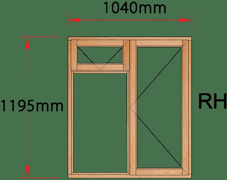 Van Acht Wood Windows Fanlight Windows Full Pane Model MB2F RH