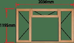 Van Acht Wood Windows Fanlight Windows Full Pane Model MB4F