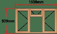 Van Acht Wood Windows Fanlight Windows Full Pane Model MC3F
