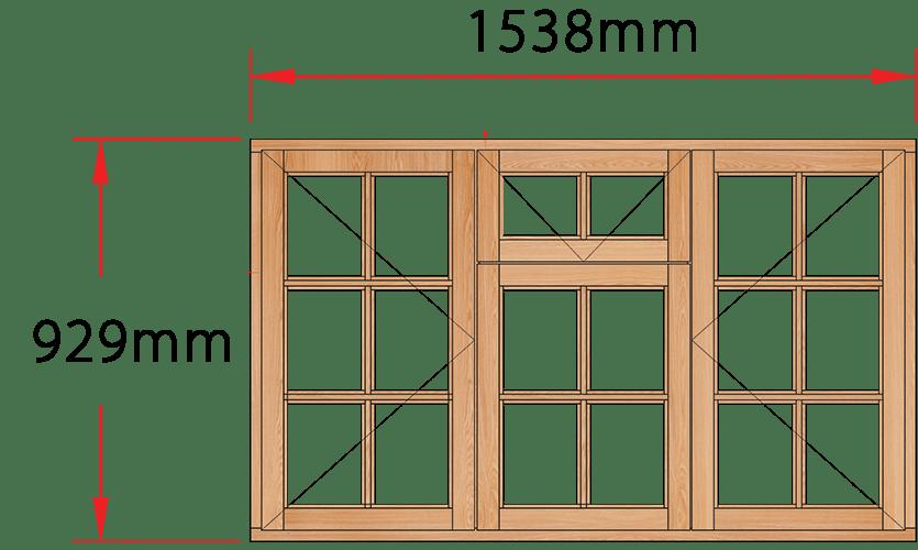 Van Acht Wood Windows Fanlight Windows Small Pane Model MC3FSP