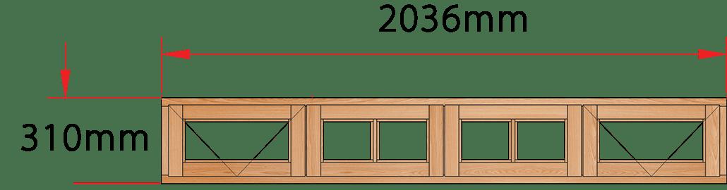 Van Acht Wood Windows Fanlight Windows Small Pane Model ME4SP