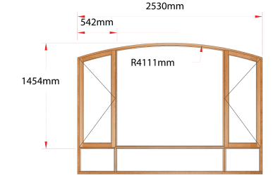 Van Acht Wood Windows Flat Arched Model AHA6S