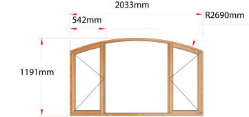 Van Acht Wood Windows Flat Arched Model AHB5
