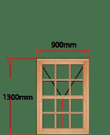 Van Acht Wood Windows Mock Easy Lift Sash Small Pane Model HMEL2SP