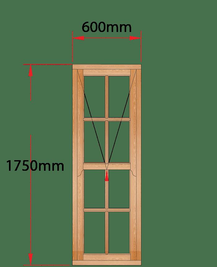Van Acht Wood Windows Mock Easy Lift Sash Small Pane Model HMEL7SP