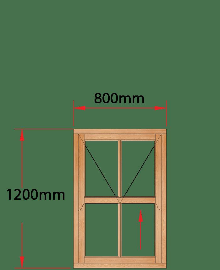 Van Acht Wood Windows Mock Easy Lift Sash Victorian Model HMEL1V