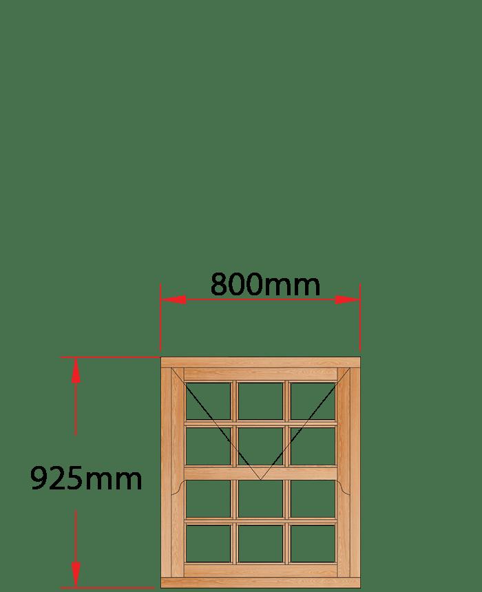 Van Acht Wood Windows Mock Sash Small Pane Model HMS1.5SP