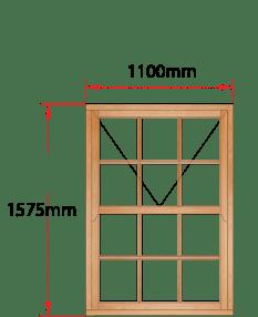 Van Acht Wood Windows Mock Sash Small Pane Model HMS3SP